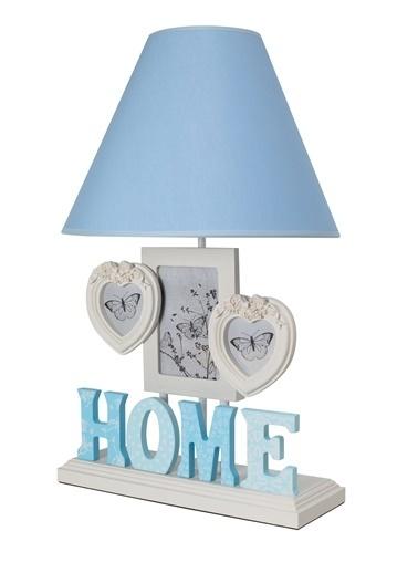 Misto Home Çerçeveli Abajur Home Mavi